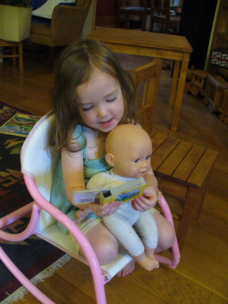 Ruby reading to her baby