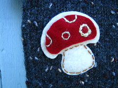 Baby toadstool (Heart felt) Tags: wool clothing recycled felt knitted heartfelt upcycled