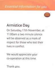 2007 Armistice Day