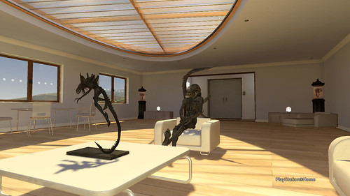 Xenomorph Sitting in Arm Chair - PlayStation®Home