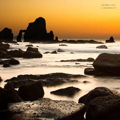 Itxaspotorroatxe ( San Juan de Gaztelugatxe )  `[Explore] (saki_axat) Tags: sunset sea seascape water atardecer rocks explore sanjuan bakio bermeo gaztelugatxe