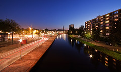 Schiedam City @ Blue Hour (DolliaSH) Tags: city longexposure blue canon nightsh