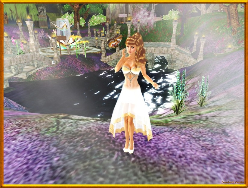 Coconut Ice ~ Fae-Jewel Gown (Glimmer)