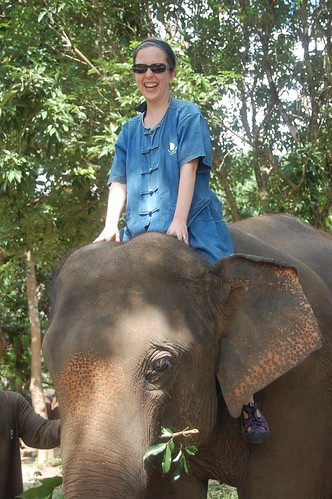 Baan Chang tiff riding elephant 1