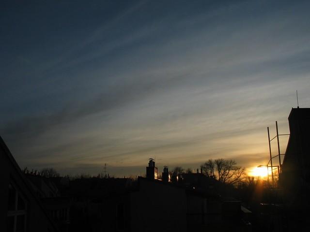 Sonnenaufgang, 4.Nov.2010, 7:05 MEZ