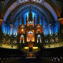 The Altar (Alex Luyckx) Tags: urban church cathedral quebec montreal basilica notredame rap fujichrome romancatholic rolleiflex28f astia placeofworship carlzeissplanar80mm128