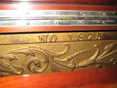 Berlin Piano - NO 1875 inscription (Ponyta!) Tags: music ontario berlin montral antique montreal victorian piano kitchener beethoven restored classical upright mozart musique vivaldi droit classique victorien restaur