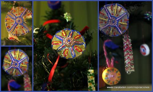 Manualidades para niños: cómo hacer adornos de Navidad para niños con botellas de plástico recicladas