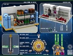 Queen Aurora 23 (messerneogeo) Tags: messerneogeo robot mech mecha spaceship battleship queen aurora ninja ganzo lego