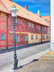Ystad (Karsten Gieselmann) Tags: 1240mmf28 blau em5markii fassade gelb hdr kgiesel mzuiko microfourthirds mft m43 olympus photomatix reise rot ystad schweden stadt city travel sweden skane