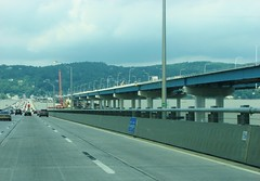 WESTBOUND OVER THE OLD TAPPEN ZEE BRIDGE IN JULY 2017 (richie 59) Tags: newyorkstate newyork dividedhighway unitedstates weekend trees traffic autos motorvehicles vehicles bridge saturday interstatehighway cars rocklandcountyny richie59 rocklandcounty hudsonriver america outside trucks summer newyorkstatethruway tappanzeebridge interstate287 thruway nythruway southnyackny southnyack bridgework 2017 july12017 july2017 i287 townoforangetownny townoforangetown 2010s hudsonvalley nystate ny usa us downstatenewyork downstate downstateny highway freeway road 6lanehighway sixlanehighway 6lane sixlane oldbridge newbridge backend taillights hill bridgeconstruction river water obsolete wornout