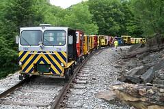 Spruce Run - High Falls - 100_3279 (primemover88) Tags: speeder railcar narcoa appalachian elkins wv west virginia durbin greenbrier valley railroad excursion