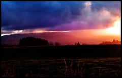 Rural Colour with a touch of snow on top (Gadgetman@Nikon) Tags: elements bright rural ruralscene sun sunrays sunset colours landscape nikon nikond5500 meechin craigmeechin gadgetmannikon snow mountain light glow haze sunhaze newzealand nikon55200mm