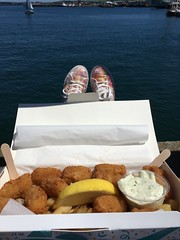 Oh I do like to be...     (explored 6.7.17) (flowergirlaaa) Tags: toes harbour falmouth takeaway scampi seaside lunch fishandchips explore 469