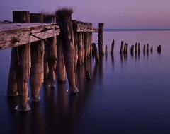 A Fifty Point Conservation Area Pier - EXPLORED (KPEP) Tags: longexposure morning water photoshop sunrise hamilton olympus explore elements lakeontario pinksky e520 kpep pse7 kpepphotography kevinpepper fiftypointpier httpwwwkpepphotographycomkpepblog