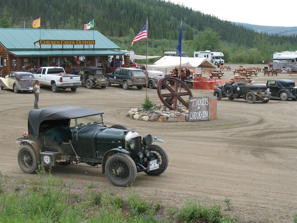 Bentleys visit, Chicken Gold Camp,  Chicken Alaska