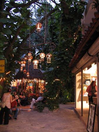 Side street on 5th Avenue Playa del Carmen