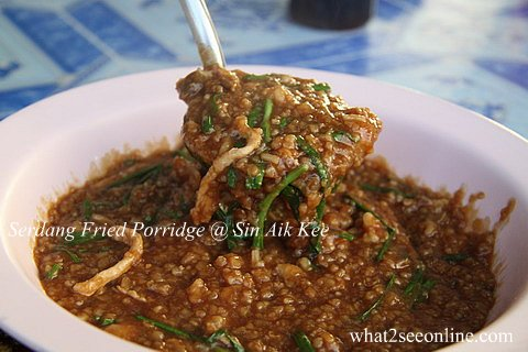 Serdang Fried Porridge @ Sin Aik Kee
