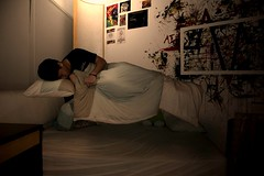 A Haunting (AlizdurShoe) Tags: cold dark bed levitation pillow blanket float