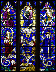 Radix Iesse (Lawrence OP) Tags: downside stained glass comper jesse tree flower virgin mary jesus saints prophets oantiphons