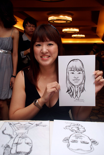 Caricature live sketching for Hock Cheong Printing Pte Ltd D&D 2009 - 7