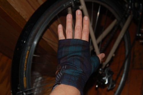plaid short gloves2