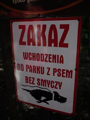 Take care of your dog! (EuCAN Community Interest Company) Tags: poland 2009 eucan milicz baryczvalley