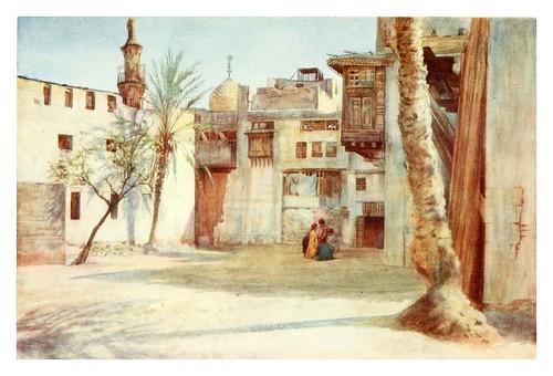 023-Un patio cerca del bazar Diez Fabricantes en el Cairo-Cairo, Jerusalem, and Damascus..1907- Margoliouth D. S.