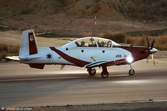 Israel Air Force  Flight Academy Texan II T-6A, Efrony (xnir) Tags: canon photography eos israel is photographer force aviation air flight ii academy raytheon  texan lark nir t6a  iaf 100400l benyosef 100400 50d     xnir   idfaf efrony  photoxnirgmailcom