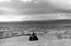 View from Glastonbury Tor (DncnH) Tags: street panorama southwest landscape blackwhite view hill glastonbury somerset tor glastonburytor guesswhereuk gwuk streetsomerset poldenhills
