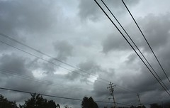 Sky and Wires (Zebra Crossing and The Paper Chipmunk) Tags: sky storm clouds telephonewires therebeastormabrewin