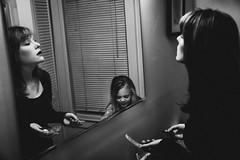 _MG_6388-38 (k.a. gilbert) Tags: bw woman girl bathroom mirror charlotte daughter mother makeup newyearseve wife handheld milf primping tamron1750mmf28 niksilverefexpro lastdayof2009