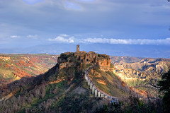 Civita di Bagnoregio (marcocim) Tags: bridge panorama castle landscape italia sony hill valle ponte valley badlands 300 pinocchio castello viterbo hdr paesaggio umbria bolsena lazio civita orvieto bagnoregio collodi blueribbonwinner calanchi sonyalphaitalia sonysti marcocim