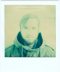Greenish (KenzieMc) Tags: winter boy portrait black cold green film analog germany polaroid hamburg instant fade analogue greenish fade2black