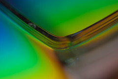 Rainbow seen through a bowl (jeremy bourgouin) Tags: macro rainbow 2009 arcenciel