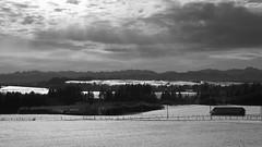(Markus_) Tags: winter blackandwhite bw mountain mountains barn germany geotagged bayern deutschland bavaria talvi lanscape maisema mustavalko mv lato pelto mustavalkoinen vuoristo saksa reichling baijeri