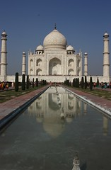 Symphony in marble (kalsnchats) Tags: blackandwhite india white beauty stone reflections wonder photography mahal tajmahal agra mosque tourist symmetry marble cenotaph 7th symphony dynasty emperor attraction propose tms shahjehan mughal mumtaz tellmeastory architectuire kalsnchats