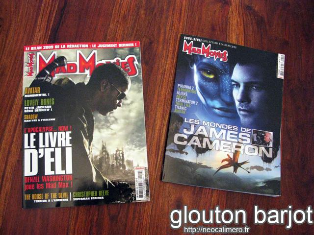 Mad movies janvier 2001 et HS Cameron
