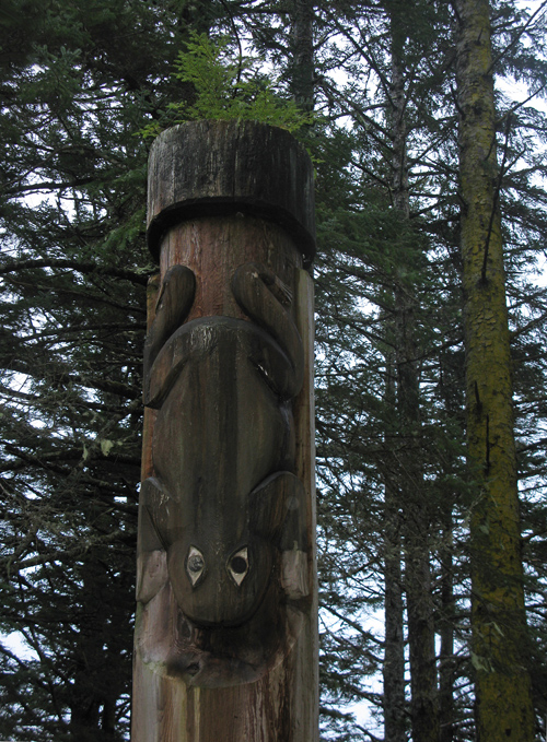 frog memorial pole, Kasaan Totem Park, Kasaan, Alaska