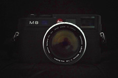 leica m8 with canon 1,2/50 (try...error) Tags: camera leica light black digital vintage lens open wide 8 rangefinder m noctilux 50 82 available rf f12 m9 m82 leitz rff dlux4