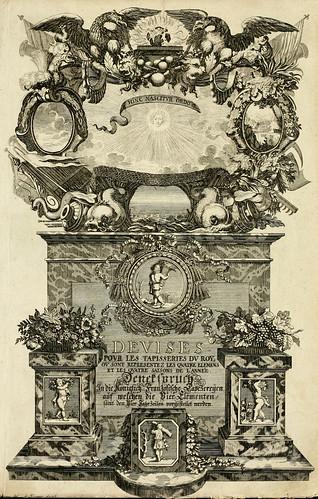 000- Portada-Tapisseries du roy, ou sont representez les quatre elemens 1690- Sebastien Le Clerc