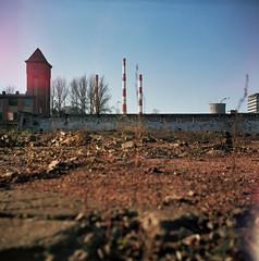 chimney  town (rygielski.piotr) Tags: chimney 120 6x6 fuji lubitel lodz fujicolor