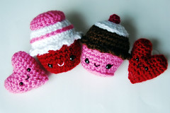 valentine set (callie callie jump jump) Tags: pink red holiday crochet valentine plush etsy amigurumi valentinesday