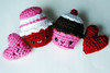 valentine set (callie callie jump jump) Tags: pink red holiday crochet valentine plush etsy amigurumi valentinesday
