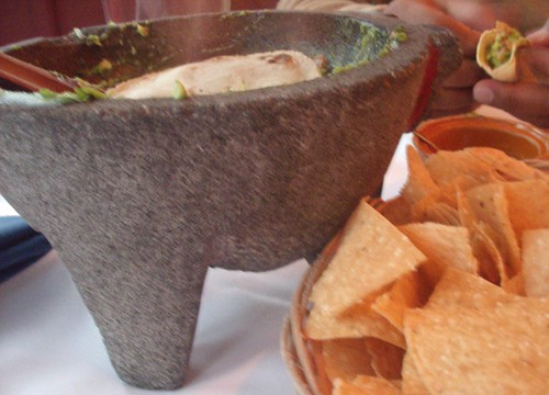 guac bowl and chips