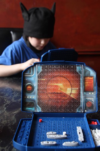 playing Battleship at Caffetto