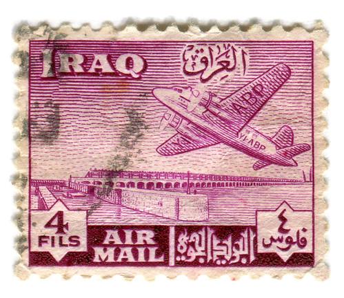 Iraq Postage Stamp: Air Mail 4 Fils