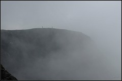 "walking on the cliff (marco ""il cao"") Tags: cliff scotland islay nebbia scogliera scozia naturesfinest digitalcameraclub"
