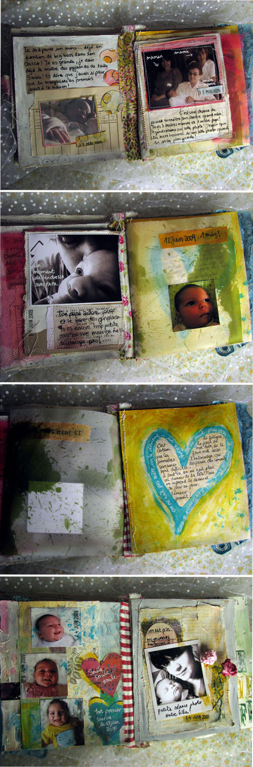 Louise 0-6 months art journal {pages 1-8}
