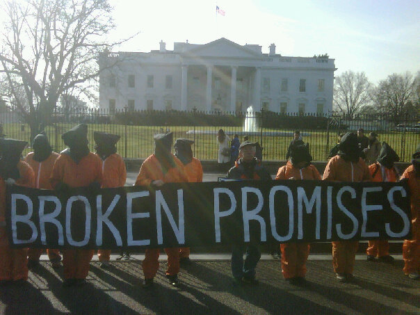 Witness Against Torture at WhiteHouse Jan 22, 2010
